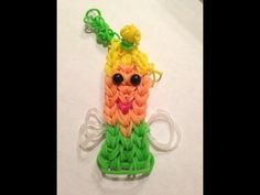 TINKERBELL Fairy Bracelet. Designed and loomed by -  Bridget V for the Rainbow Loom. Tutorial on You Tube.