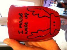 DIY mug, dollar store mug and permanent marker