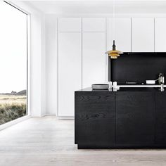"264 Likes, 8 Comments - Dot➕Pop Interiors - Eve Gunson (@dotandpop) on Instagram: ""That black oak cabinetry is ❤ Minimalist modern vibes by multiform.dk RG @meiraustralia"""