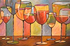 Whites and Reds . abstract wine glass art, kitchen bar prints Framed Art Print by Amy Giacomelli - Vector Black - MEDIUM (Gall Wine And Canvas, Wine Painting, Wine Art, Arte Pop, Art Abstrait, Painting Inspiration, Art Lessons, Glass Art, Wine Glass