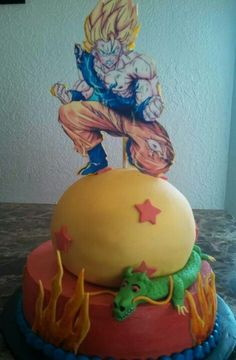 My sons Dragon ball z cake