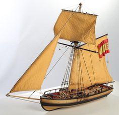Atrevida Lancha Cañonera, wooden model ship kit by Disar, #20130