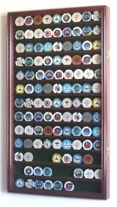117 L Casino Chip Coin Display Case Cabinet Chips Holder Wall Rack UV Lockable, Cherry Coin Display Case, Display Cases, Mini Liquor Bottles, Bottle Display, Brass Hinges, Wall Racks, Poker Chips, Displaying Collections, Poker Table