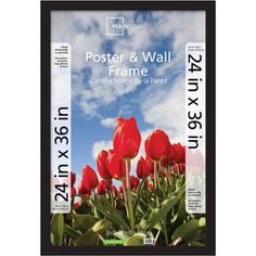 Mainstays 24x36 Wide Gallery Poster and Picture Frame, Black - Walmart.com