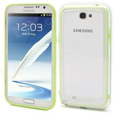 Quantity: 1 Piece; Color: Green + transparent; Material: Plastic; Compatible Models: Samsung Galaxy Note 2 N7100; Other Features: Protects the frame of your device from abrasion; Packing List: 1 x Case; http://j.mp/VCiatl