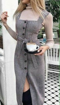 Really like these latest fashion trends 1749 How to wear fall fashion outfits with casual style trends Kem dưỡng ngày hada labo koi gokujyun 7 in 1 Nhật Bản Pretty look for autumn or winter Mod Fashion, Fashion Mode, Hijab Fashion, Fashion Dresses, Fashion Looks, Womens Fashion, Casual Dresses, Casual Outfits, Vetement Fashion