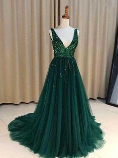 Cheap Trendy Prom Dresses Long, Prom Dresses 2019 2019 Prom Dresses, Prom Dresses Long, Prom Dress, Prom Dresses For Cheap Prom Dresses 2019 Green Evening Gowns, Sequin Evening Dresses, Backless Prom Dresses, Tulle Prom Dress, Cheap Prom Dresses, Dance Dresses, Emerald Prom Dress, Emerald Green Gown, Evening Party