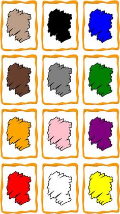 FlashCards Preview Colors printable