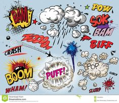 Comic Book Elements Stock Images - Image: 10646584