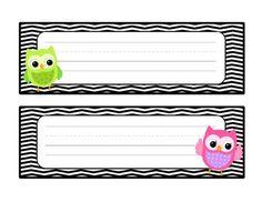 Chevron, Polka-dot and Owl Classroom Decor