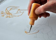 Instructions, required materials, recommended materials, books, kits, and tools for the French Serti Method of painting on silk.