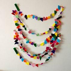 Items similar to Confetti Garland // Rainbow Geometric Felt Party Bunting // meters on Etsy Confetti, Garland, Felt, Rainbow, Party, Rain Bow, Felting, Rainbows, Receptions