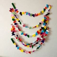 Confetti Garland // Rainbow Geometric Felt Party by StampAndStitch