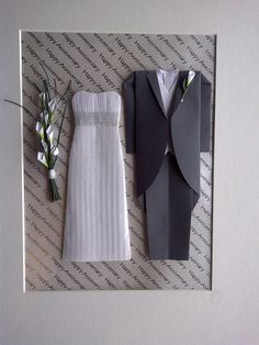 origami wedding outfit