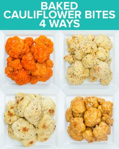 Baked Cauliflower Bites 4 Ways