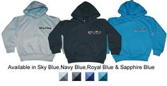 Kids embroidered hoodies 25+ colours starting at age 1-2 (babies also available).