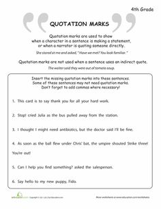 This grammar worksheet is for the instruction of the proper ...