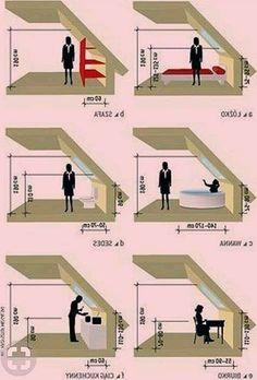 Attic Bedroom Designs, Attic Design, A Frame House Plans, A Frame Cabin, Attic Loft, Loft Room, Attic Renovation, Attic Remodel, Attic Spaces