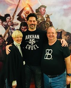 """""""With two of the architects of my childhood, the authors of the #Dragonlance novels Margaret Weiss…"""""""