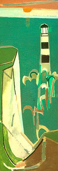 The Lighthouse at Beachy Head, 1960. By Françoise Gilot (France, born 1921). Oil on canvas.