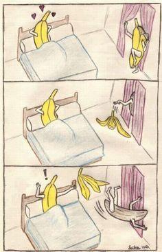 Banana striptease omg