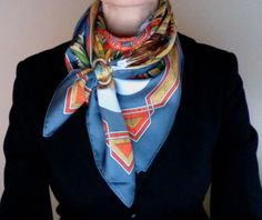 This scarf tying technique REALLY makes me want a scarf ring.
