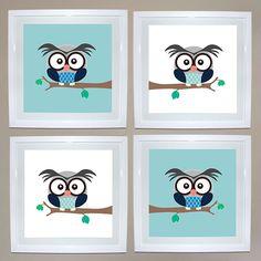 Boy Owl Print Set of 4 | Ruby & Me | Online Shop