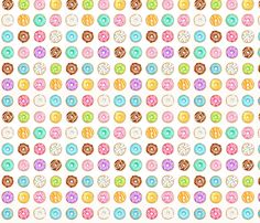 Donuts - 1 inch fabric by hazel_fisher_creations on Spoonflower - custom fabric