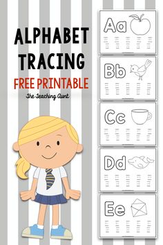 Alphabet Tracing Free Printable The Teaching Aunt