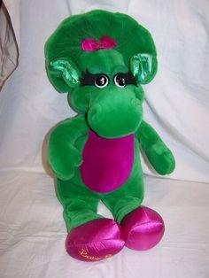 Up for sale is a Beautiful Vintage 1992 Lyons Dakin Baby Bop barney plush TALL RARE. Barney Costume, Stuffed Animals, Dinosaur Stuffed Animal, Barney & Friends, Elmo, Great Friends, 21st, Childhood, Plush