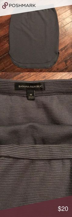 Banana Republic Skirt Worn once!!! Lays a little bit longer on the back. Very comfortable. No zipper closure. Easy to pull up. Nice ribbed material. Easy to dress up and wear casually. Banana Republic Skirts