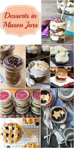 Desserts in Mason Jars - a delicious dessert recipe collection perfect for bridal showers, baby shower, shabby chic party and so many other special occasions.