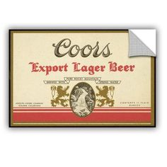 ArtWall 'Export Lager' by Miller Coors Wall Mural Size: