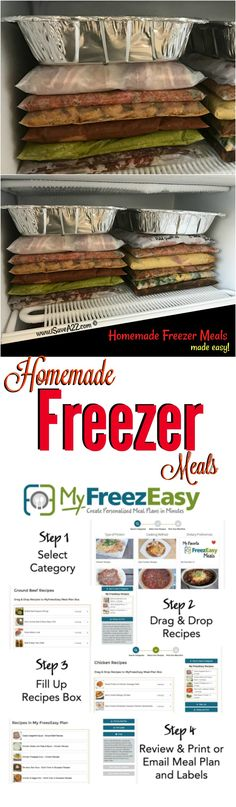Homemade Freezer Meals Made Easy with this plan!