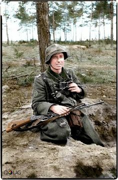 A Jäger with a Sturmgewehr 44.  Another fantastic colorization by Doug Banks. -