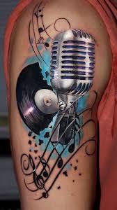 Resultado de imagem para watercolor microphone tattoo