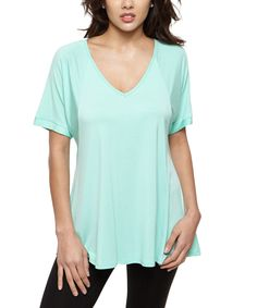This 42POPS Mint V-Neck Tunic by 42POPS is perfect! #zulilyfinds