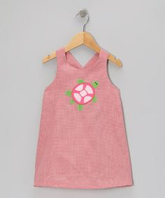 Take a look at this Red Gingham Sea Turtle A-Line Dress - Toddler & Girls by Monday's Child on #zulily today!