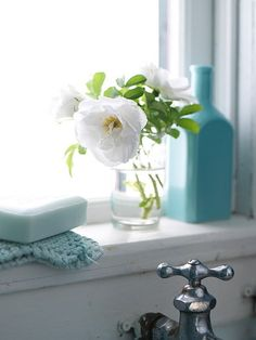 traditional  by CapeRace Cultural Adventures - Create windowsill vignettes. Sometimes the tiniest details can make a huge difference in the way a room looks and feels. In the bathroom try swapping out your standard washcloth for a hand-knit version, plunk a garden rose in a water glass and display pretty little vases or bottles where they can catch the light. Line up seashells in a kitchen window; prop a tiny painting and a jelly jar of flowers in a study window.
