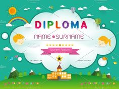 Certificate kids diploma @creativework247