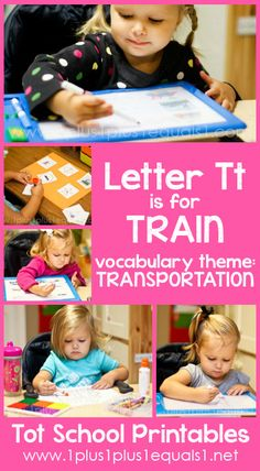 Tot School Printables Letter T is for Train {free} from @{1plus1plus1} Carisa #totschool