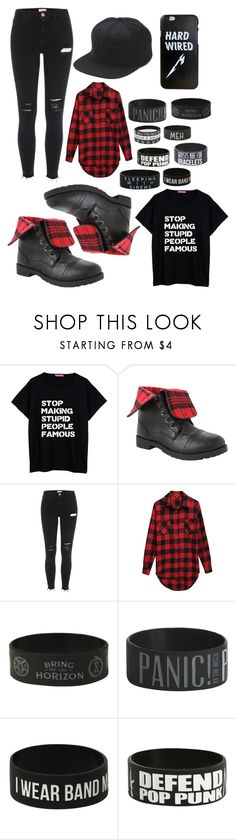 """""""Personal Style: 6"""" by cesca-8-rose ❤ liked on Polyvore featuring Hot Topic, River Island and Vans"""