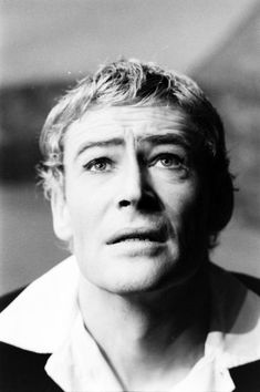 Peter O'Toole, who won one two Golden Globes for Best Actor in a Motion Picture — Drama (for <i>Becket</i> in 1965 and <i>The Lion in Winter</i> in 1969) and one Golden Globe for Best Actor in a Motion Picture — Comedy or Musical (for <i>Goodbye, Mr. Chips</i> in 1969). Pictured here as Hamlet, 1963.
