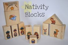 Love these.  Cut blocks or buy unfinished blocks, find images, and modpodge them.  Would make a great Christmas gift.  Could make sets for other holidays too.  Limited instructions (a bit more detail) in link.