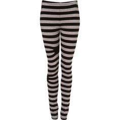 Black Stripe Leggings By Ann-Sofie Back For Topshop** ($70) ❤ liked on Polyvore featuring pants, leggings, bottoms, jeans, tights, women, stripe pants, striped trousers, striped leggings and cotton trousers