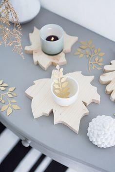 DIY Herbstblätter aus Holz