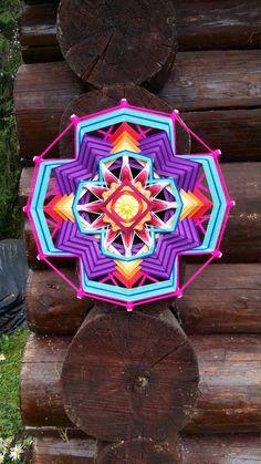 "Mandala Ojo de Dios ""Eden Flower"" от BeHappyMandalaShop на Etsy.  You can order this mandala https://www.facebook.com/jevgenial"