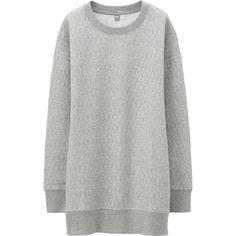 grey jacquard sweatshirt