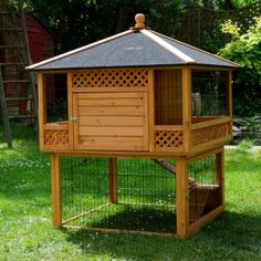 Bunny house with chickens underneath and mine would have a flat roof to grow herbs