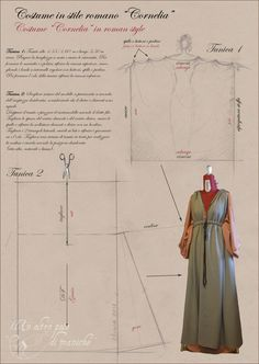 Mar 2020 - Historical and Fantasy Patterns Roman inspired dress pattern. Capture Red Carpet Looks with Pageant and Prom Dresses Article Body: The best prom nights are magical and create memories that will last a Roman Clothes, Diy Clothes, Historical Costume, Historical Clothing, Medieval Dress Pattern, Pattern Dress, Roman Dress, Viking Dress, Roman Fashion